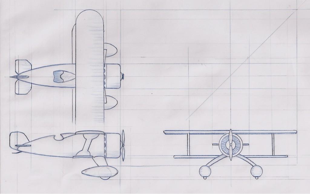 Orthographic biplane