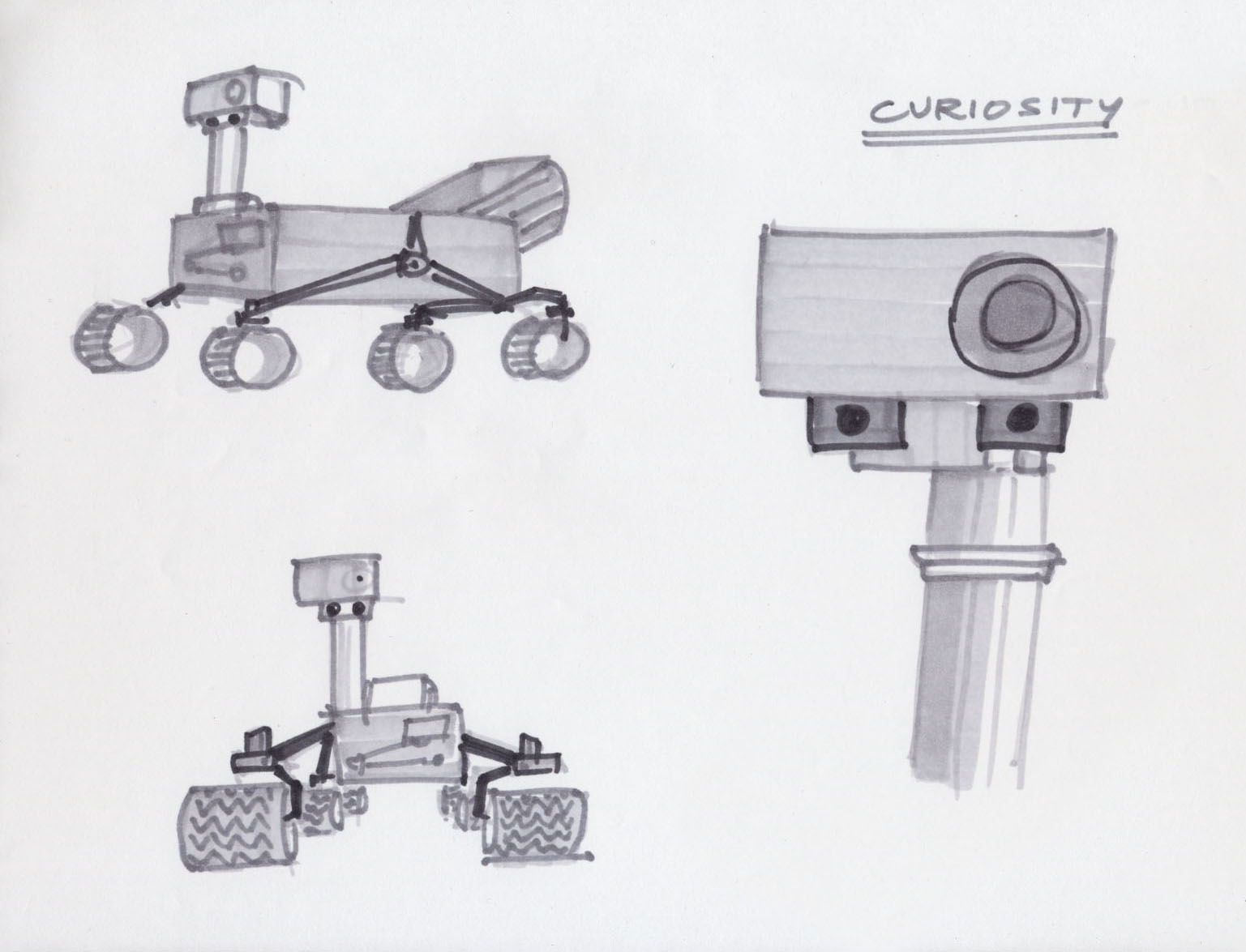 mars curiosity rover technical drawing - photo #15