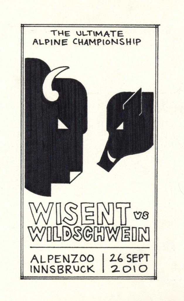 Wisent vs. wildschwein