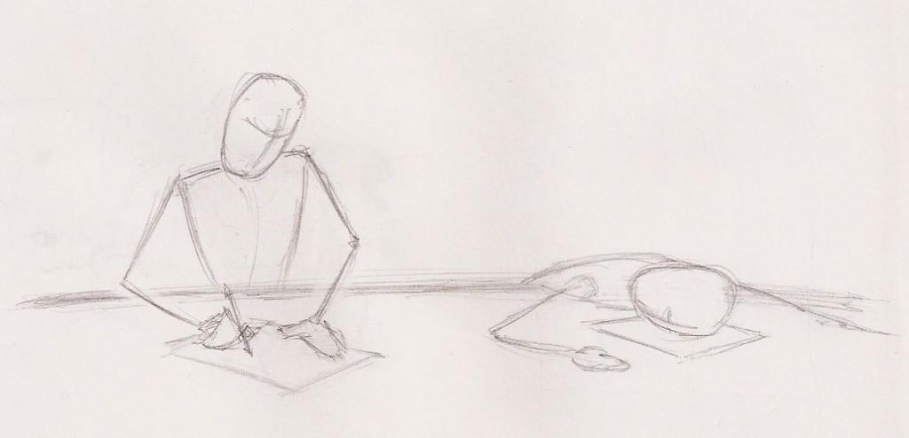 Asleep at the pencil