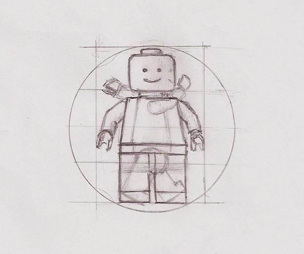Vitruvian LEGO man