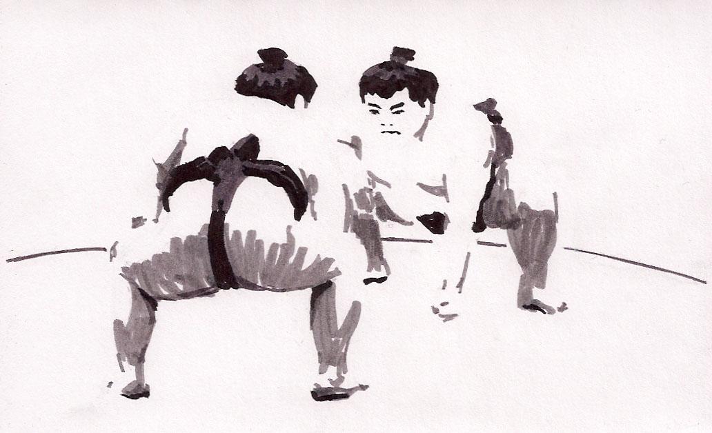 Sumo Wrestler Illustration Stock Photo - Image: 7274200